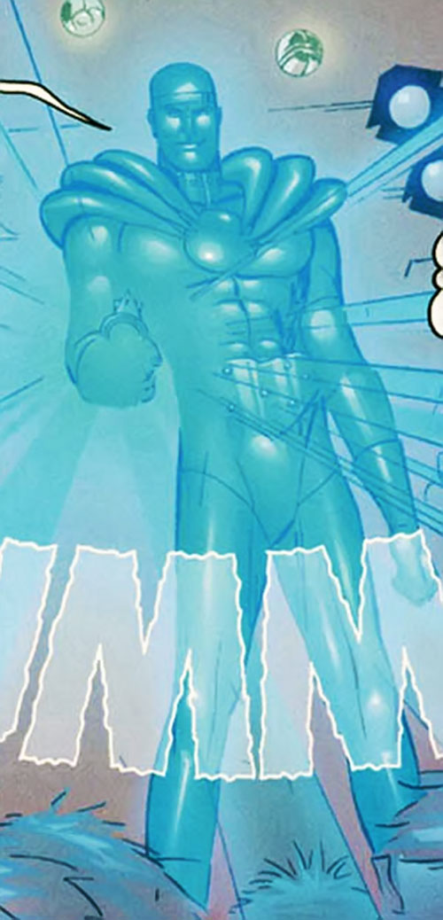 Optilux (Supreme enemy) (Image Comics) as blue light