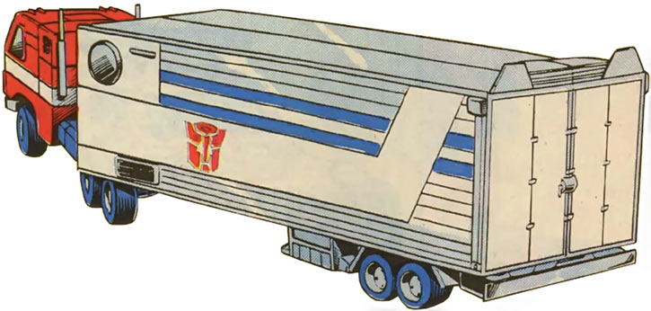 Optimus Prime of the Transformers in the G1 Marvel Comics in truck form