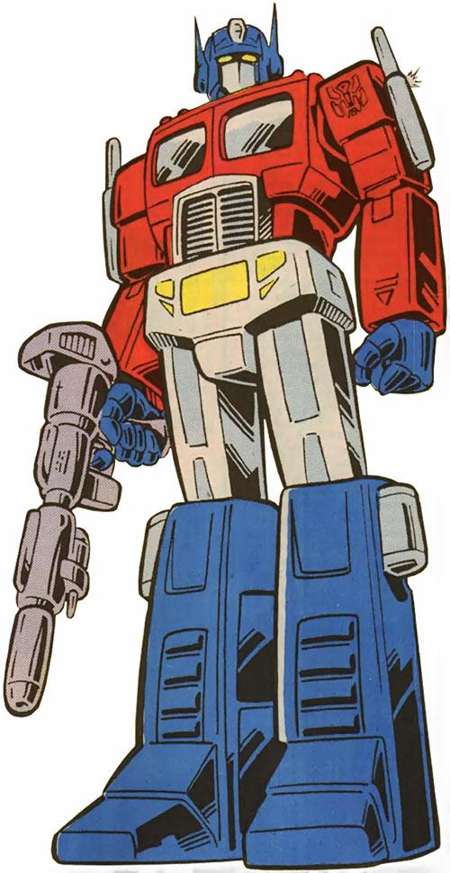 optimus prime transformers g1 version marvel comics character