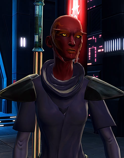 Star Wars the Old Republic - SWTOR - Sith Inquisitor - Orfenn - Glowing yellow eyes