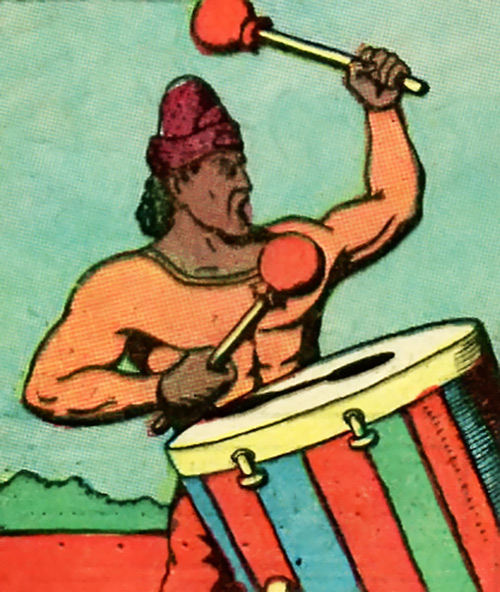 Org (Fantomah enemy) (Jungle Comics) drumming