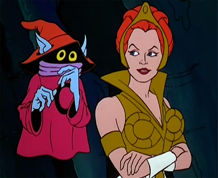 Orko - He-Man and the Masters of the Universe cartoon - With Teela