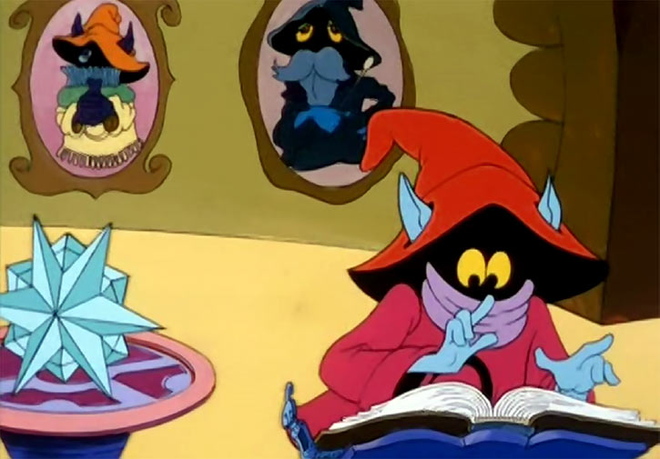Orko - He-Man and the Masters of the Universe cartoon - Studying in magic shop