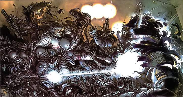The Metabaron in a massive battle
