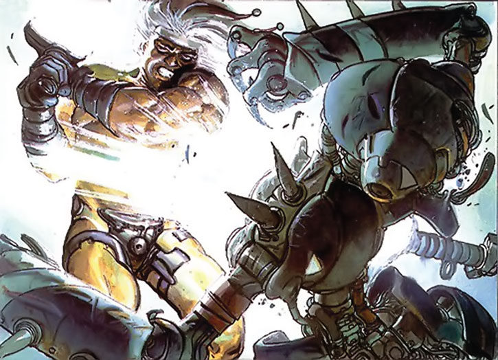 The Metabaron fighting a robot