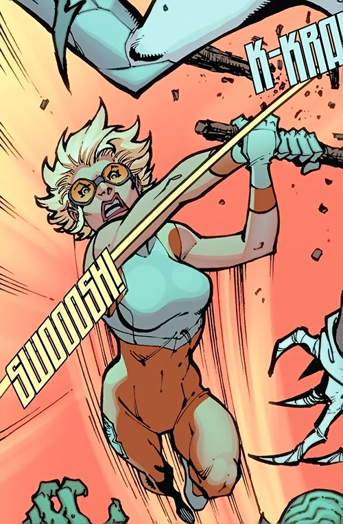 Outrun of the Guardians of the Globe (Image Comics Kirkman) hits with a stick at high speed