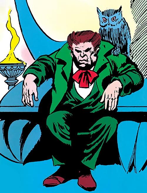 Owl (Marvel Comics) (Daredevil enemy) (1960s) throne and owl