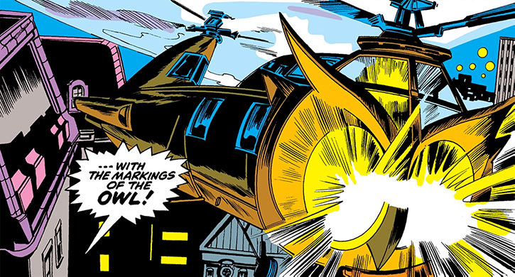 Owl (Marvel Comics) (Daredevil enemy) (1960s) Helicopter