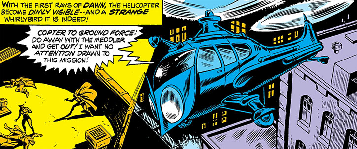Owl (Marvel Comics) (Daredevil enemy) 1973 helicopter