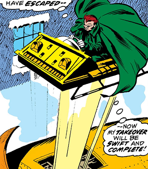Owl - Marvel Comics - 1970s - Daredevil enemy - Ejecting sled from rocket