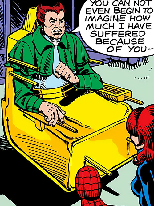 Owl - Marvel Comics - 1970s - Daredevil enemy - Special chair