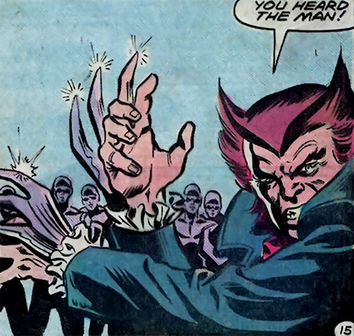 Owl (Marvel Comics) (Spider-Man enemy) (1980s) claws and henchmen