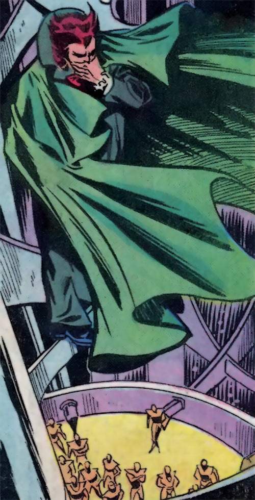 Owl (Marvel Comics) (Spider-Man enemy) (1980s) perched