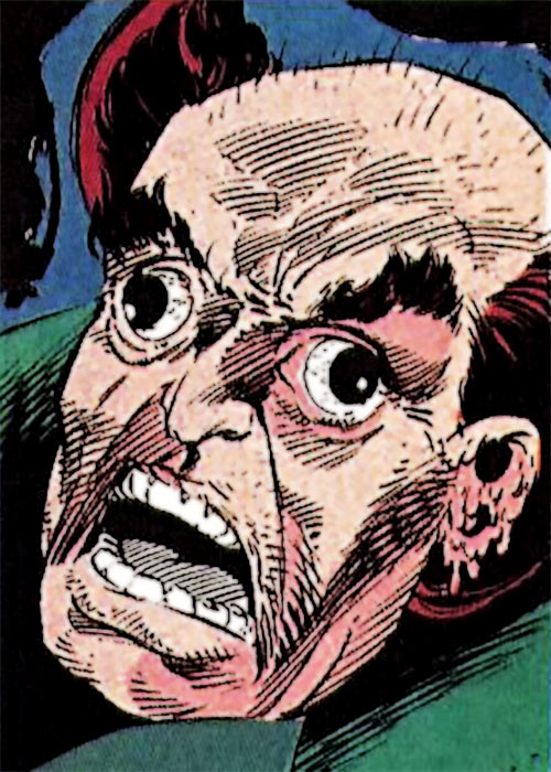 Owl (Marvel Comics) (Daredevil enemy) (1990s) mutated face