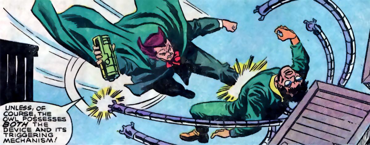 Owl (Marvel Comics) (Spider-Man enemy) (1980s) vs. Doctor Octopus