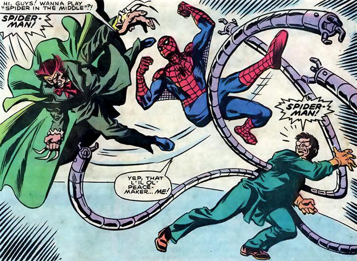 Owl (Marvel Comics) (Spider-Man enemy) (1980s) vs. Doctor Octopus vs. Spider-Man