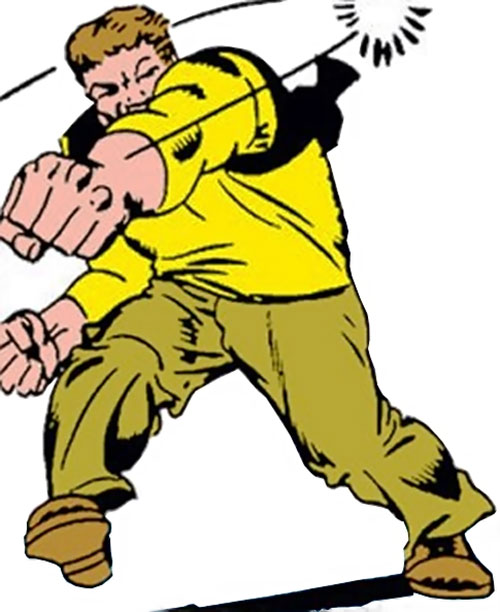 Ox of the Enforcers (Marvel Comics) throws a punch