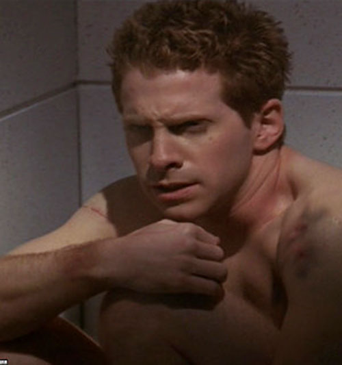 Oz (Seth Green in Buffy the Vampire Slayer) locked in and naked