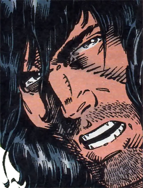 Pacer of the Gene Dogs (Marvel Comics UK) face closeup