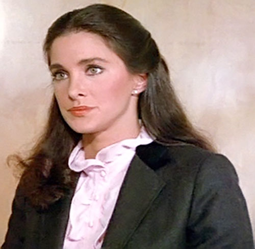 Pam Davidson (Connie Sellecca in Greatest American Hero) with an old-fashioned blouse