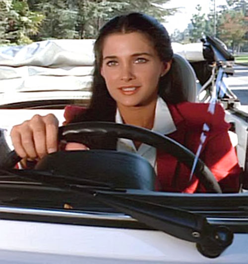 Pam Davidson (Connie Sellecca in Greatest American Hero) driving a convertible