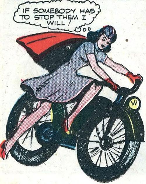 Pat Parker War Nurse (Harvey Comics) and a motorcycle