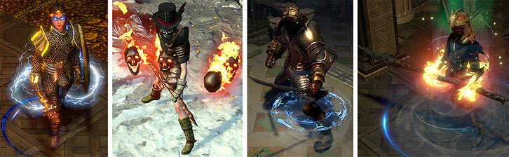 Examples of Player Characters in the Path of Exile video game