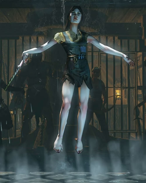 Witch in Path of Exile levitating