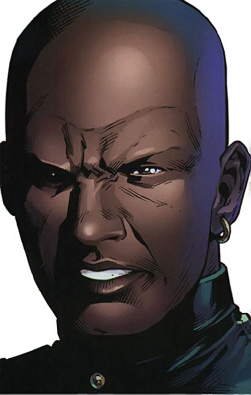 Patriot of the Young Avengers (Eli Bradley) (Marvel Comics) face closeup