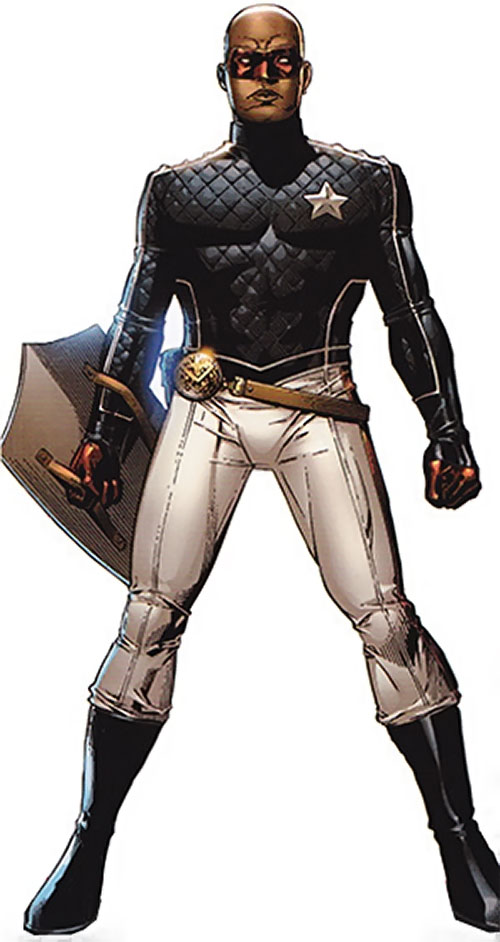 Patriot of the Young Avengers (Eli Bradley) (Marvel Comics) ready for action