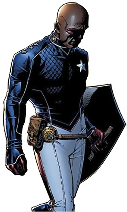 Patriot of the Young Avengers (Eli Bradley) (Marvel Comics) looking dejected