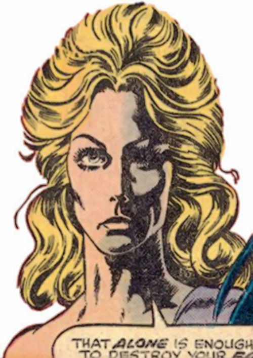 Pavane (Master of Kung Fu enemy) (Marvel Comics) face closeup