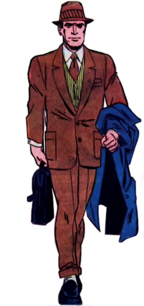 Peacemaker (Charlton Comics) out of costume as Christopher Smith