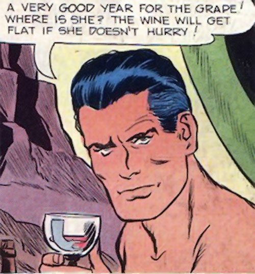 Peacemaker (Charlton Comics) enjoying wine on the beach