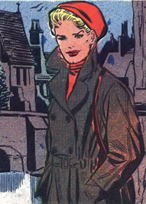 Nora O'Rourke (Peacemaker ally) (Charlton Comics) with a red beret