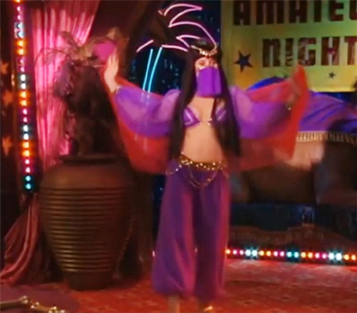 Peg Bundy (Katey Sagal) doing a belly dance