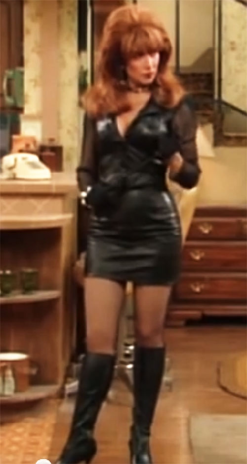 Peggy Bundy (Katey Sagal in Married With Children) in black leather