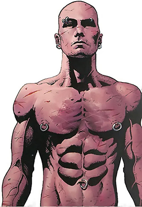 Penance (Baldwin) of the Thunderbolts (Marvel Comics) bare-chested