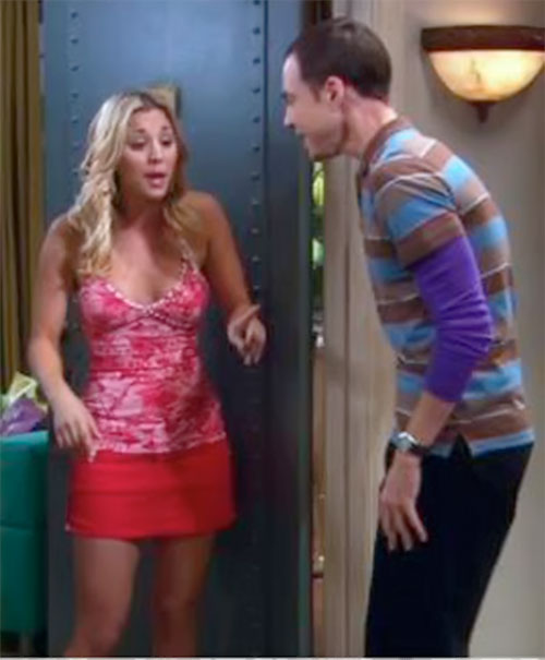 Penny (Kaley Cuoco in Big Bang Theory) and Sheldon