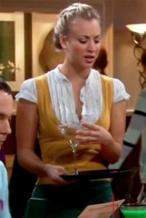 Penny (Kaley Cuoco in Big Bang Theory) in her waitress outfit