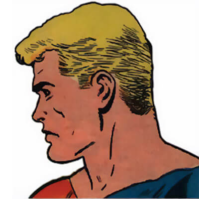 Peter Cannon Thunderbolt by PAM (Charlton Comics) face closeup