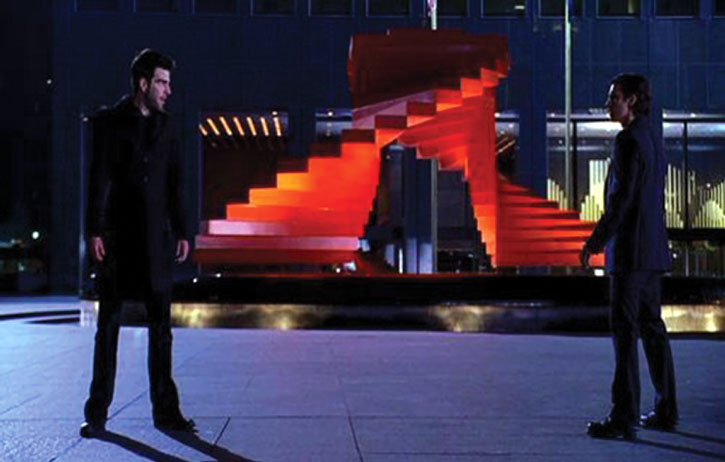 Peter Petrelli (Milo Ventimiglia) facing Sylar