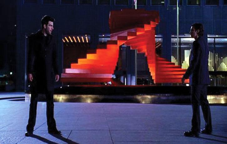 Peter Petrelli (Milo Ventimiglia) facing Sylar