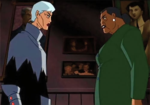 Phantasm (Batman enemy) (Animated DC Universe) - an older Andrea faces Amanda Waller