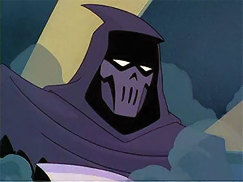 Phantasm (Batman enemy) (Animated DC Universe) mask closeup