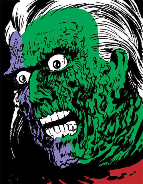 Phantom of the 42nd Street (Luke Cage enemy) (Marvel Comics) face closeup