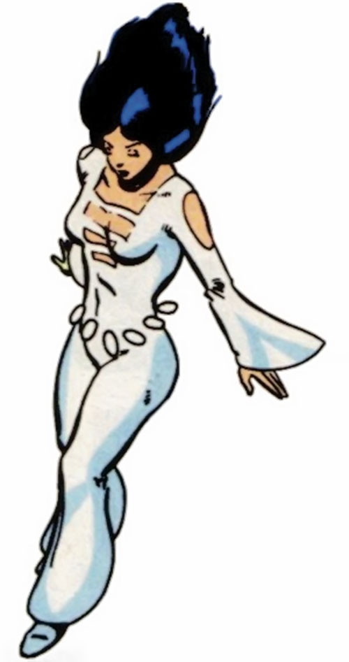 Phantom Girl of the Legion of Super-Heroes (DC Comics) high angle shot