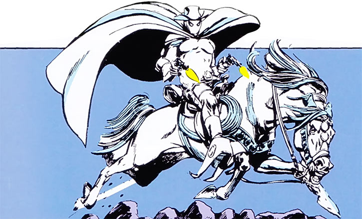 Phantom Rider (Marvel Comics) riding his horse and shooting two revolvers