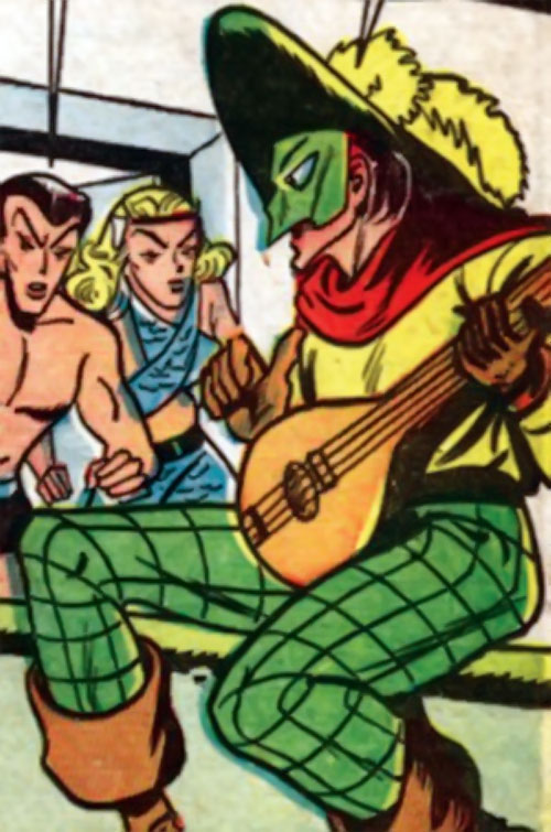 Phantom Troubadour (Namora enemy) (Timely Marvel Comics) vs. Namor and his cousin