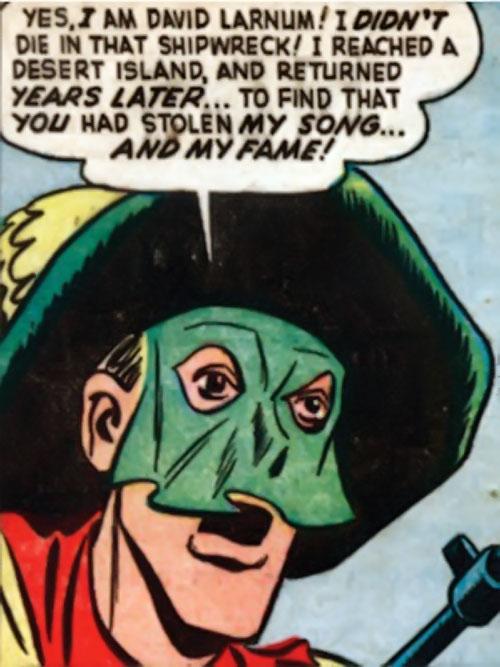 Phantom Troubadour (Namora enemy) (Timely Marvel Comics) face closeup